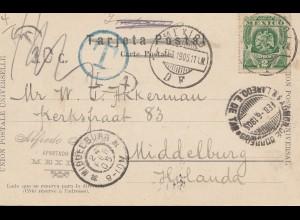 Mexico 1905: post card Chapultepec to Middelburg/Holland, Taxe