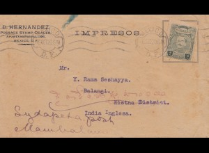 Mexico 1920: stamp dealer to India