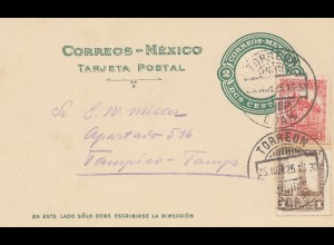 Mexico 1925: post card Torreon