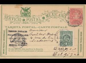 Mexico 1899: Post card Vergara to Belgium