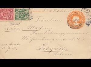 Mexico 1911: letter via New York to Liegnitz