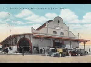 Mexico 1937: post card Ciudad Juarez to Stuttgart