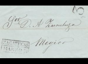 Mexico 1846: letter Zacatecas Markos