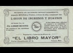 Mexico 1931: letter Toluca to Dresden/Plauen, Publicity, El Libro Mayor