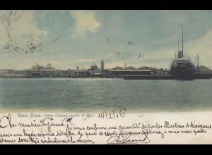 Mexico 1906: post card Vera Cruz to Paris