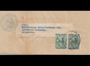 Mexico September 1935: Wheater/Meteorologico of Mexico to Leipzig