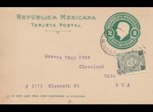 Mexico 1921: post card Mexico City to Ohio/USA