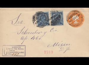 Mexico 1903: Registered letter