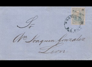 Mexico 1869: cover to Leon