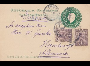 Mexico 1912: post card San Diegnito to Hamburg