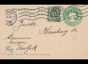 Mexico 1909: post card Mexico to Hamburg