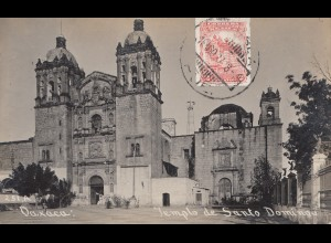 Mexico 1927: post card Daxaca, Pueblo to Offenbach