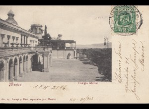 Mexico 1896: post card Mexico Colegio Militar to Armentieres/France