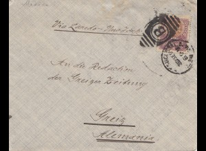 Mexico 1901: Special Commissär, Mexican government to Greiz/Germany