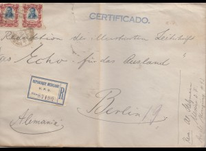 Mexico 1921: Registered Deutsch-Südamerikanische Bank to Berlin