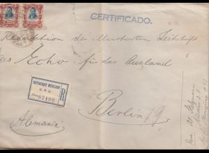 Mexico 1921: Registered Deutsch-Südamerikanische Bank to Berlin