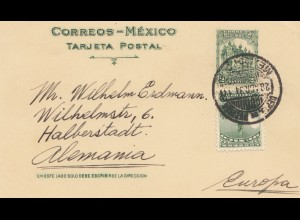 Mexico 1934: post card Mexico city to Halberstadt