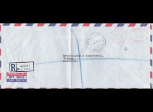 Bahrain: Air mail to 1973 to Vienna, Austria