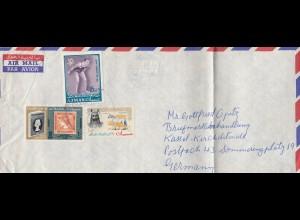 Ajman: letter to a stamp dealer in Kassel