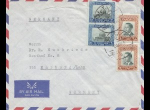 Jordan: air mail Amman 1964 to Marburg