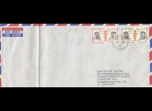 Dubai: 1965, letter to a stamp dealer in Kassel