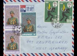Brunei 1969 to Kaufbeuren via air mail