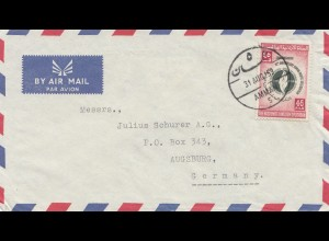 Jordan: Amman 1959: air mail to Augsburg