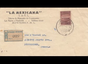 Mexico: 1940 Registered Monterrey to Pitisburgh