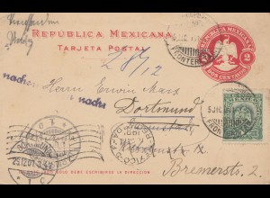 Mexico: 1901: post card to Dortmund