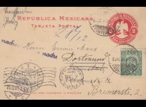 Mexico: 1901: post card to Dortmund