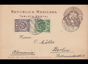 Mexico: 1910: post card to Berlin