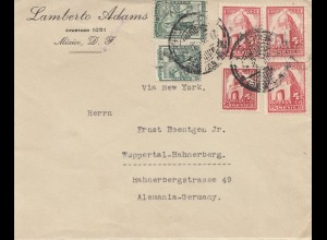 Mexico letter to Wuppertal-Hahnerberg