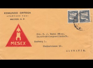 Mexico letter to Hamburg