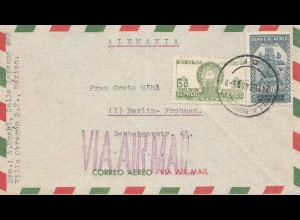 Mexico 1947: Letter to Berlin-Frohnau via Air mail