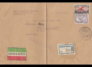 Mexico 1929: air mail registered to La Haya/Holland