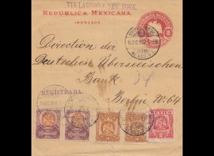 Mexico 1902: letter Registered via Laredo New York to Berlin- Dt. Übersee Bank