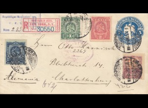Mexico 1901: letter Registered via New York to Charlottenburg