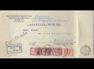 Mexico 1933: Registered Impresos Foto to Halle