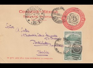 Mexico 1925: Rio Blanco post card to Italia - Portichetto