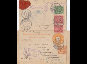 Mexico 1909: post card registered Macuspana to Kirchdorf - forwarded