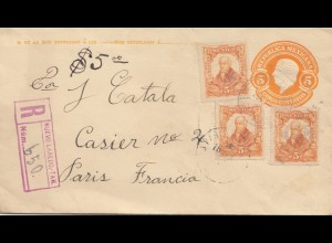 Mexico registered letter to Paris