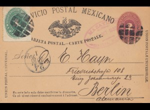Mexico 1888: post card to Berlin