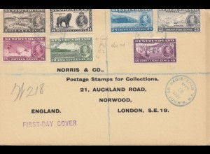 Newfoundland: 1937 registered FDC to Norwood London