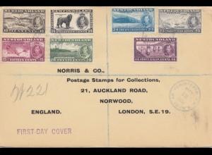Newfoundland: 1937 registered to Norwood London, FDC