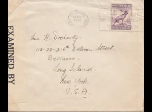 Newfoundland: 1942: St. John's to New York, censor