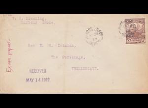 Newfoundland: 1919 Harbour Grace to Twillingate