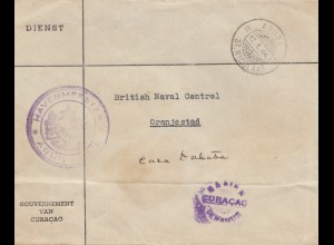 Ned. Antillen 1944: Government Curacao/Aruba to Oranjestad
