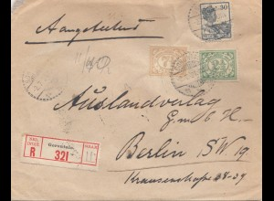 Ned. India 1921: Registered Gorontalo to Berlin