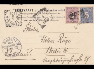 Ned. Indie 1902: post card Buitenzorg to Berlin