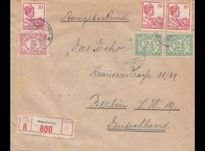 Ned. Indie 1921: Registered Bandoeng to Berlin